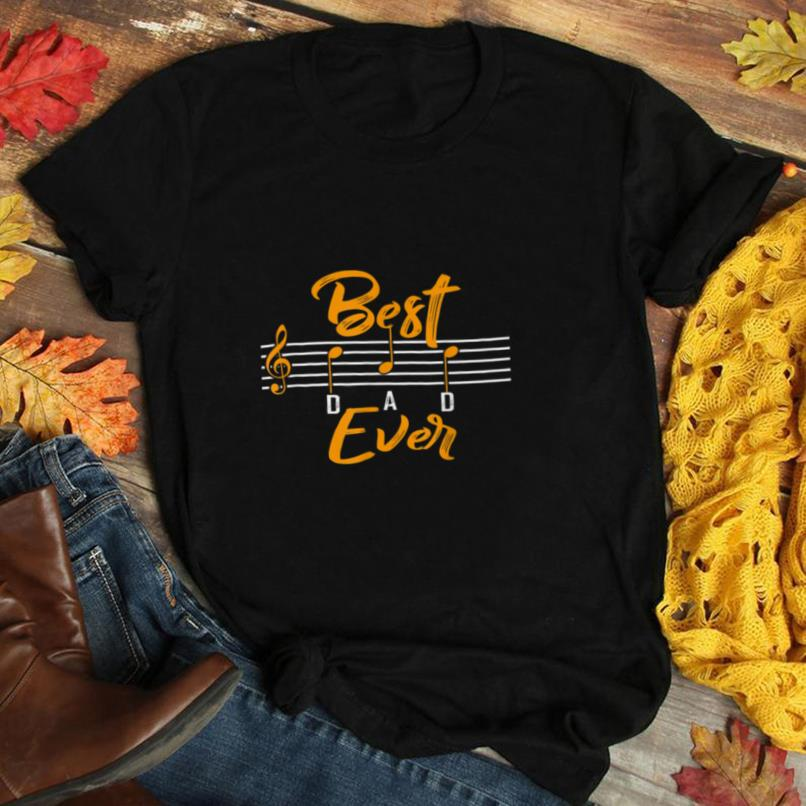 Mens Best Dad Ever Music Shirt Notes Funny Fathers Day Gift T Shirt