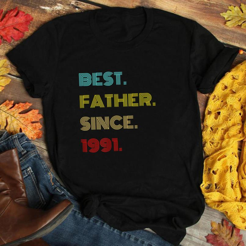 Mens Best Father Since 1991   Fathers Day Gifts T Shirt