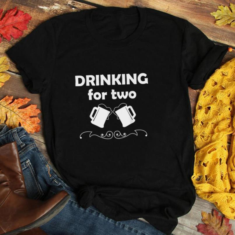 Mens Drinking for Two Shirt Pregnancy Announcement New Dad Gift T Shirt