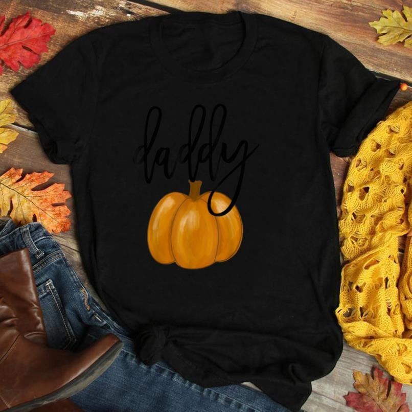 Mens Thanksgiving Dad and Daughter Matching Gift Daddy Pumpkin T Shirt