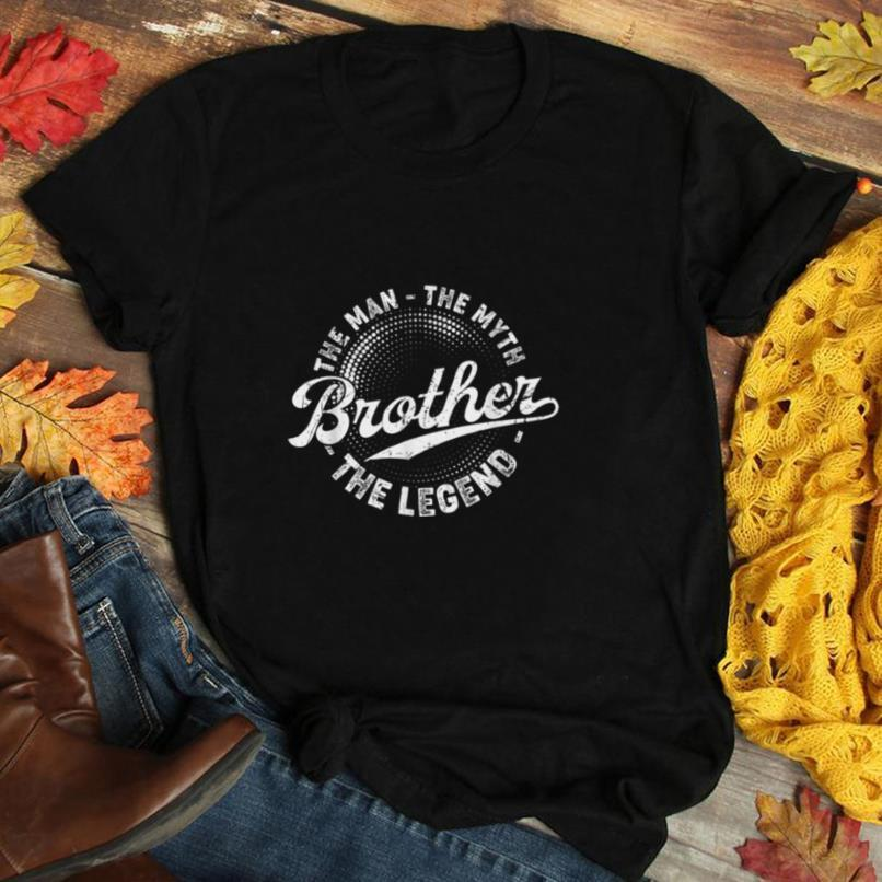 Mens Vintage Brother The Man The Myth The Legend Fathers Day Gift T Shirt