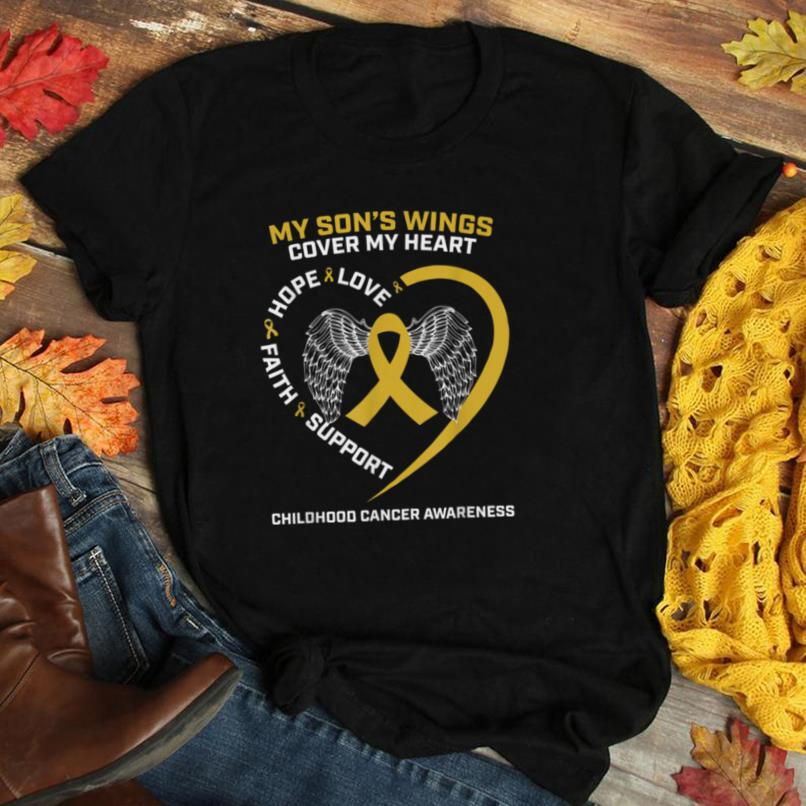 Mom Dad Gold Loving Memory Of Son Childhood Cancer Awareness T Shirt