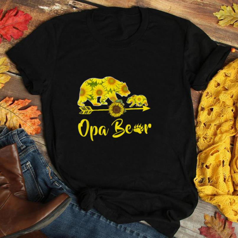 Opa Bear Sunflower T Shirt Funny Mother Father Gifts T Shirt