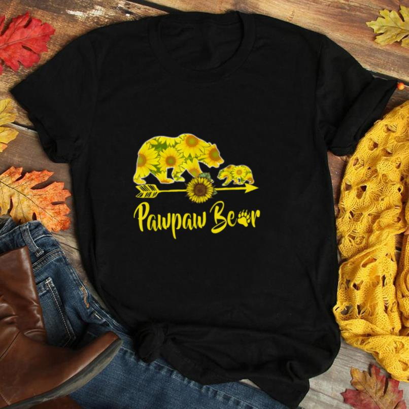 Pawpaw Bear Sunflower T Shirt Funny Mother Father Gifts T Shirt