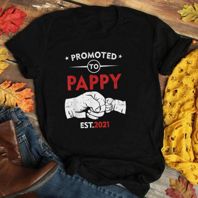 Promoted To Pappy Est 2021 Funny New Pappy Gift Baby T Shirt