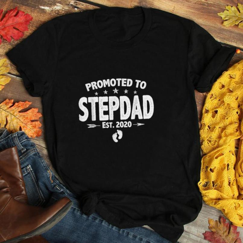 Promoted To Stepdad Father's Day Gift From Daughter Son Wife T Shirt