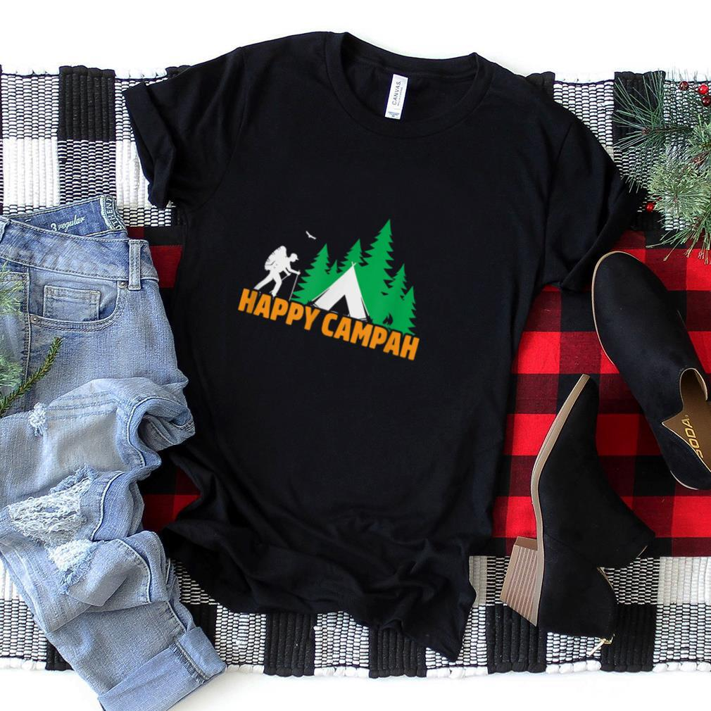 Retro Vintage Happy Campah, Camping Gift, New England T Shirt