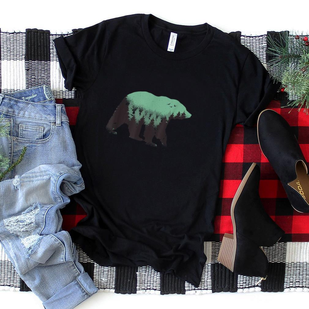 Silhouette Bear in Forest T Shirt
