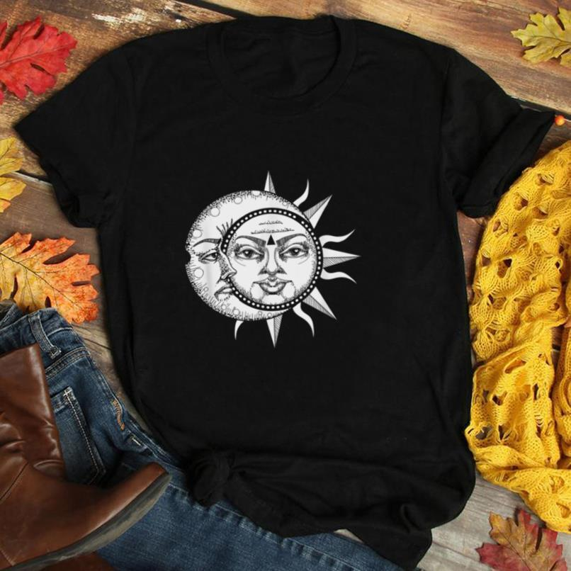 Sun Moon Astronomy Astronomer Astrology Galaxy Space Gift T Shirt