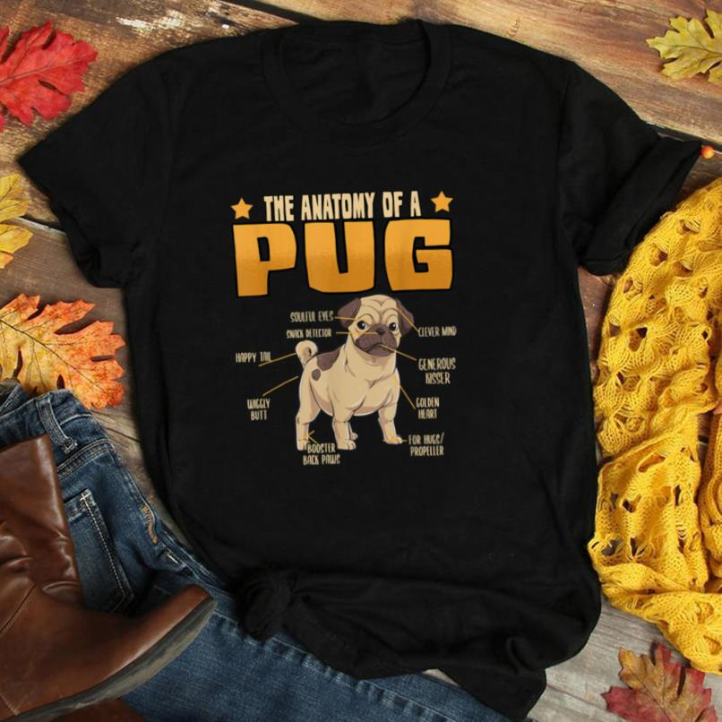 The Anatomy Of A Pug Dog Lovers Mom Dad T Shirt