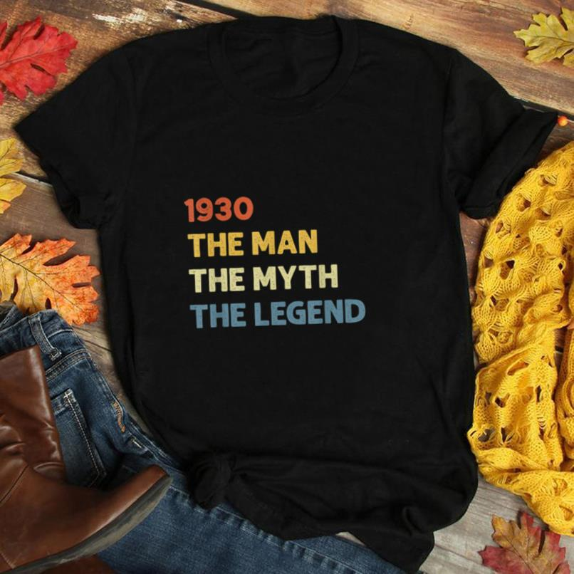Vintage Made in 1930 90th Bithday GIft 90 Years Old Birthday T Shirt