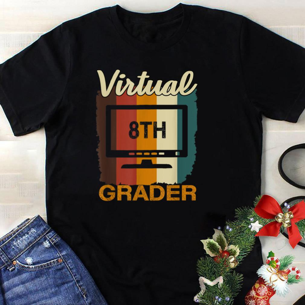 Virtual 8th Grader Vintage Distance Learning Back to School T Shirt