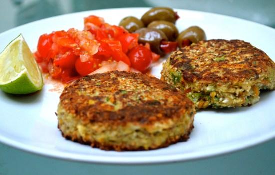 Mrs P's aromatic cauliflower veggie burgers