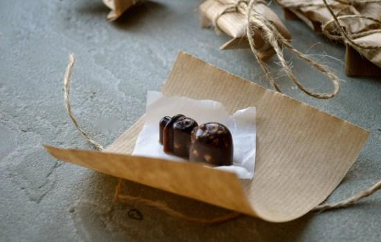 Homemade raw chocolate advent calendar