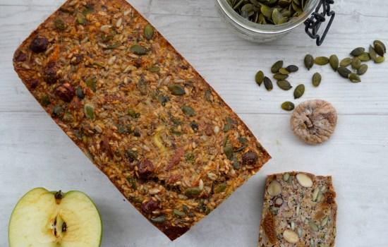 Paleo Nut, Seed, Apple and Fig Loaf
