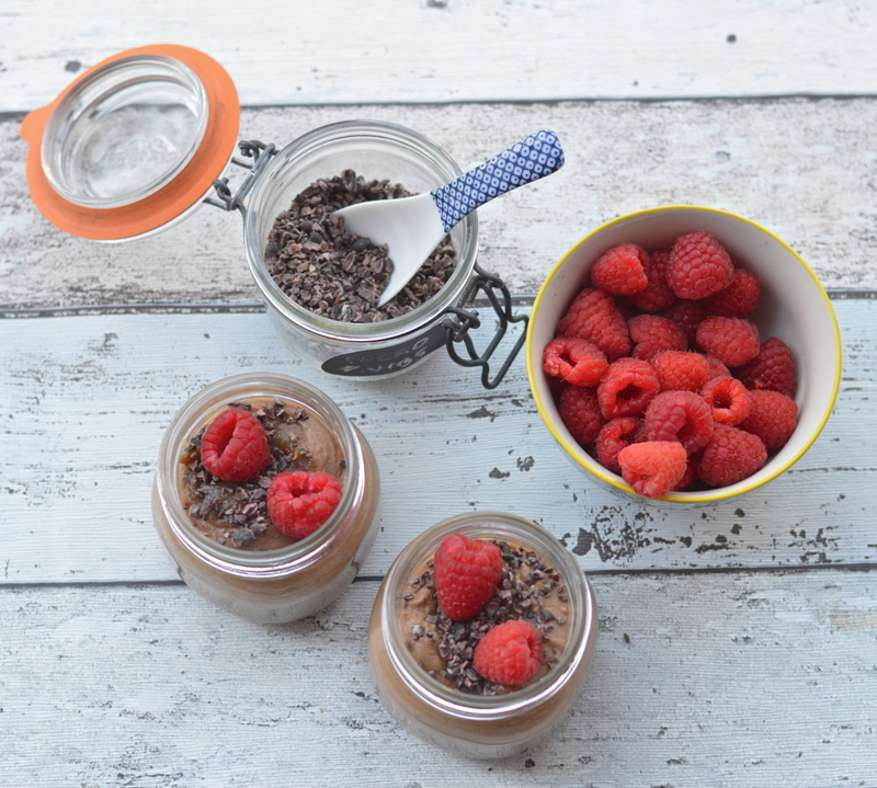 Chocolate Chia and Caramelised Date Pudding