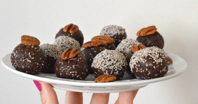 No-Bake Chocolate Orange & Chia Energy Balls