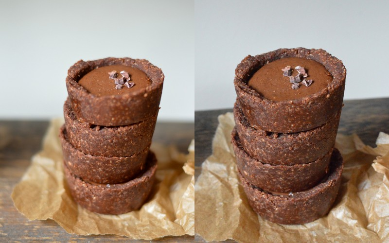 Healthy Nutella Chocolate Cups