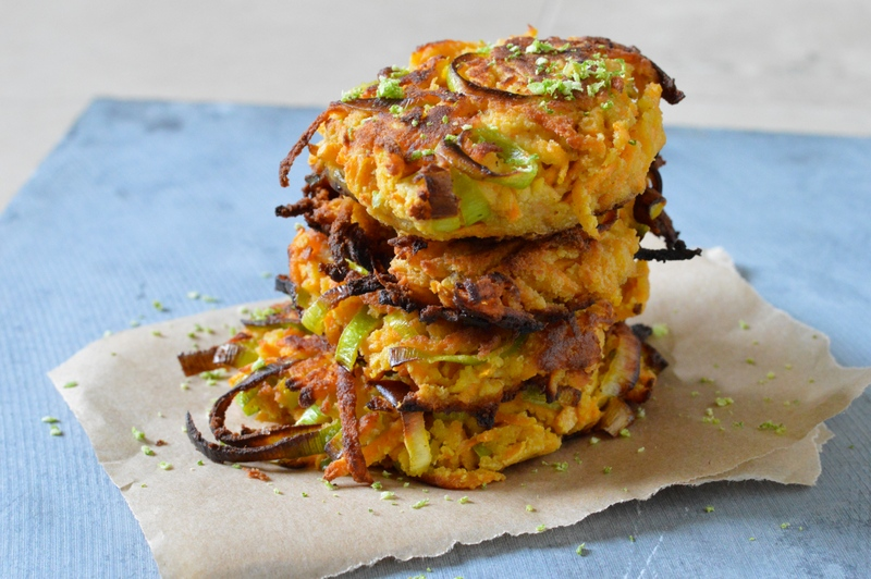Sweet Potato, Leek and Lime Fritters