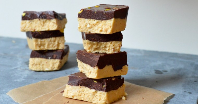 Raw Chocolate Shortbread Squares