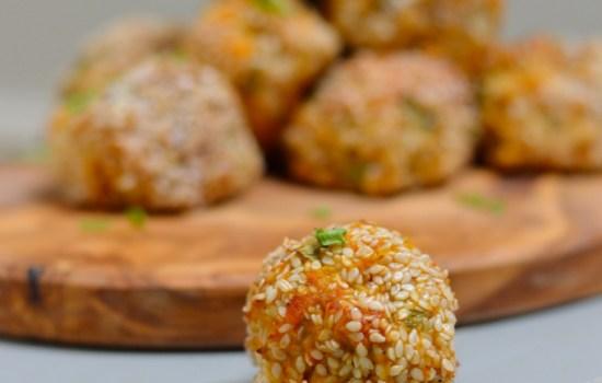 Sesame And Sweet Potato Bites