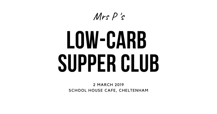 An Invitation to my March supper club