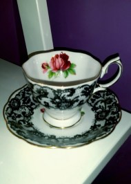 Antiques, especially tea cups, can make any room feel classier