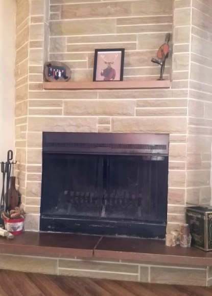 How to update old fireplace with just spray paint