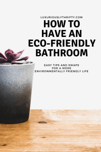 Eco-Friendly Bathroom | Luxuriously Thrifty