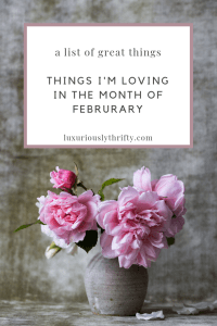 A List of Cool Things | Luxuriously Thrifty
