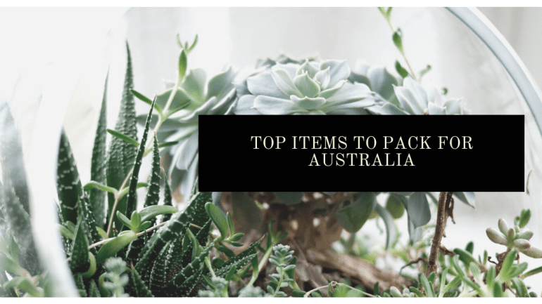 Top items to pack for a trip to Australia | Luxuriously Thrifty