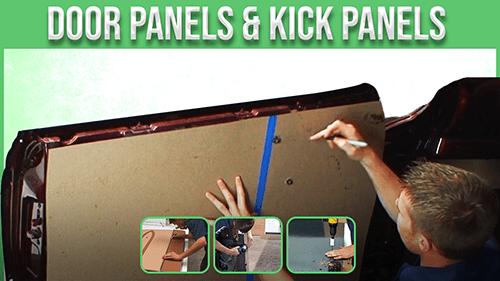door panel and kick panels