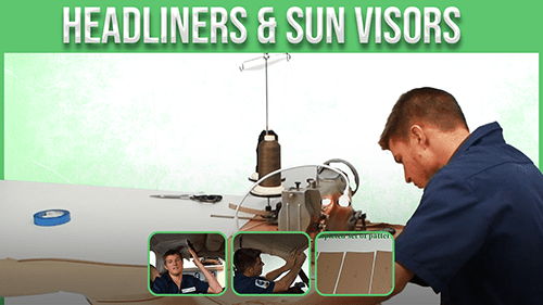 headlines and sun visors