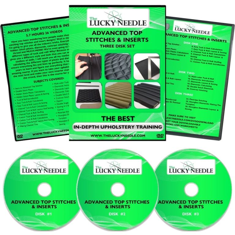 Advanced Top Stitches & Inserts Course Upholstery Training DVD