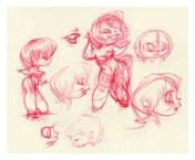 Hula Girl Sketches