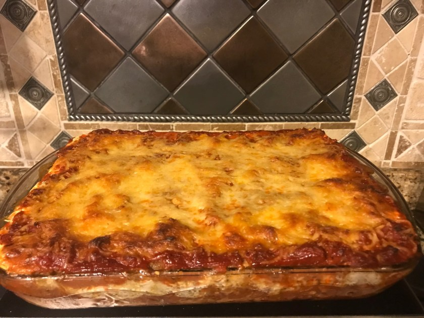 Lasagna from the oven www.theluckywife.life
