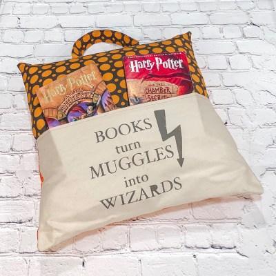 Harry Potter book pillow