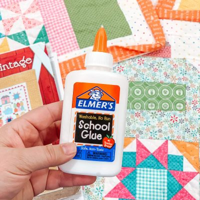 Quilt Binding Tip | Glue Baste Your Project Using Elmer's School Glue