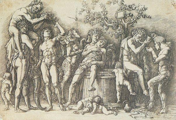 """Mantegna, """"Baccanale con un tino"""", 1470's"""