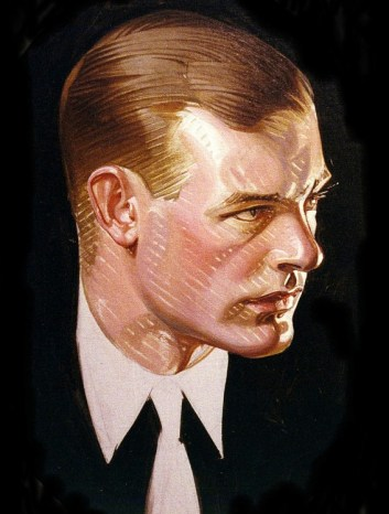 Profile of Man with Tie, 1915 by J-C Leyendecker