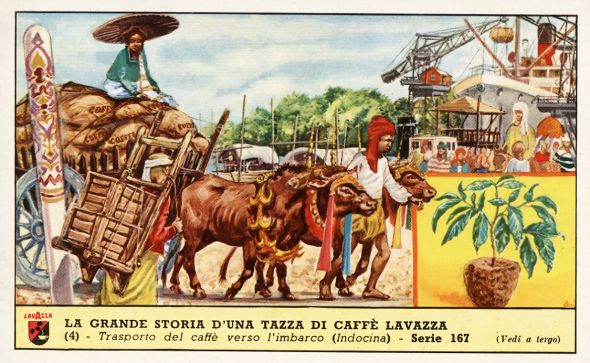 Advertising for Lavazza, Transport of coffee in Indochina