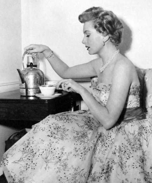 Deborah Kerr having Tea
