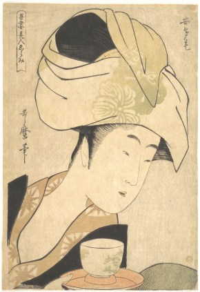 Kitagawa Utamaro, Waitress at a tea house, 1795