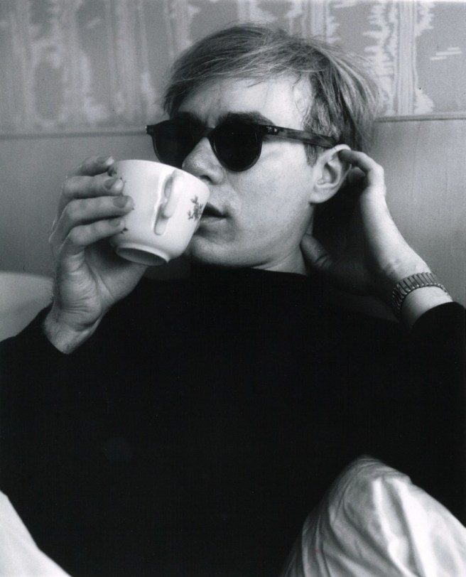 Andy Warhol drinking his tea