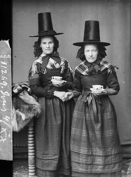 Thomas John. 1875 Two women in national dress drinking tea