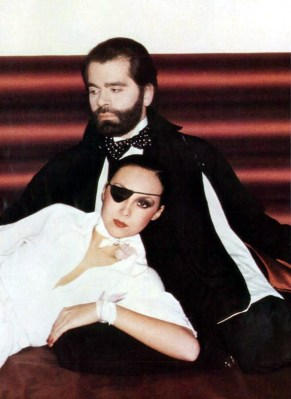 David Bailey Karl Lagerfeld & Marie Helvin, UK Vogue, March 1st 1975 2