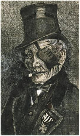 Orphan Man in Sunday Clothes with Eye Bandage Van Gogh