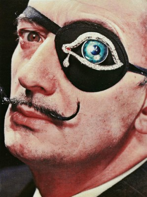 Philippe Halsman Salvador Dalí with his own creation of diamond-encrusted eye-patch, 1947