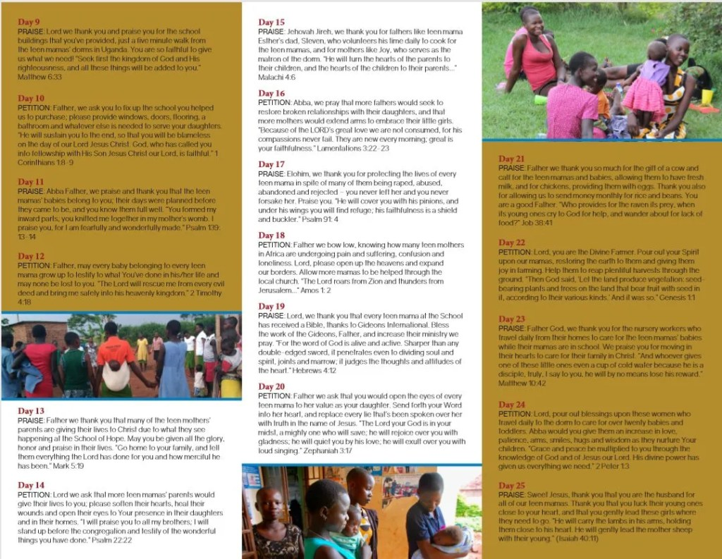 Join Us in 31 Days of Prayer for the Lulu Tree School of