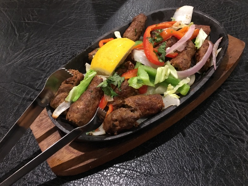 Seekh Kabab served on a hot plate. Photo   Bryan Donoghue
